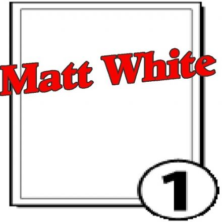 A4 Matt White Polyester Labels (1 per sheet)